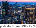 Prefecture จังหวัดโอซาก้าトทิวทัศน์ยามค่ำคืนรอบอุเมดะ 39091570