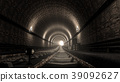 realistic old subway metro tunnel 39092627
