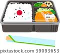 商业盒装午餐和筷子 39093653