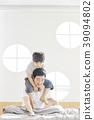 生活,臥室,爸爸,兒子,韓國人 39094802