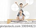 生活,臥室,爸爸,兒子,韓國人 39094823