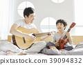 生活,臥室,爸爸,兒子,韓國人 39094832