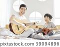 生活,臥室,爸爸,兒子,韓國人 39094896