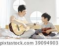 生活,臥室,爸爸,兒子,韓國人 39094903