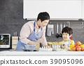 烹飪,爸爸,兒子,韓國 39095096