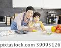 烹飪,爸爸,兒子,韓國 39095126