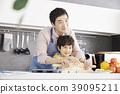 烹飪,爸爸,兒子,韓國 39095211