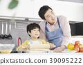 烹飪,爸爸,兒子,韓國 39095222
