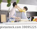 烹飪,爸爸,兒子,韓國 39095225