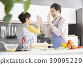 烹飪,爸爸,兒子,韓國 39095229