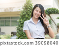asian woman in uniform student  39098040
