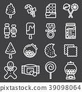 Candies icons set 39098064