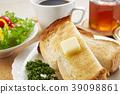蜂蜜和烤面包早餐早餐 39098861