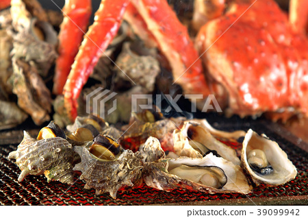 Food ingredients seafood shellfish crab shellfish oysters oysters barbecue charcoal grill 39099942