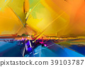 Abstract colorful oil painting  39103787