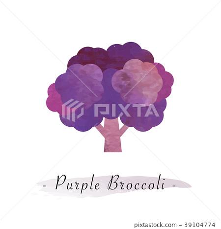Colorful watercolor vector healthy vegetable 39104774