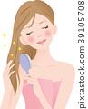 刷牙的女人 39105708