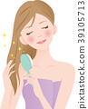 刷牙的女人 39105713