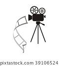 Movie camera icon 39106524