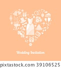 Wedding invitation 39106525