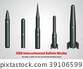intercontinental ballistic missile (ICBM) 3D 39106599