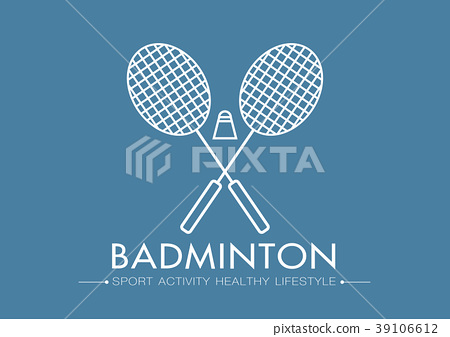 badminton logo vector sport flat illustration 39106612
