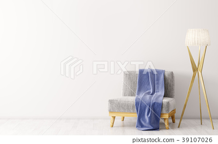 Interior with armchair and floor lamp 3d rendering 39107026