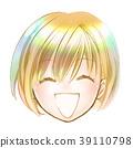 Cute Girl Young Student Smile Uniform Bob Cute Fashionable Colorful Hair Beauty Hair Beautiful Skin Genki 39110798