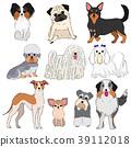 작은 강아지의 소재 그린 39112018