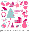 Christmas and happy new year infographic element. 39113166