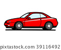 Italian sports coupe red car illustration 39116492