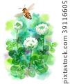 watercolour, watercolors, bee 39116605
