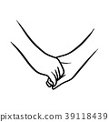 holding hand of lovers vector illustration sketch  39118439