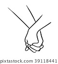 close-up lover holding hand vector illustration 39118441