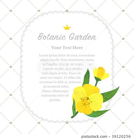 Colorful watercolor nature botanic garden memo 39120256