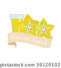 水果 果汁 水彩画 39120502