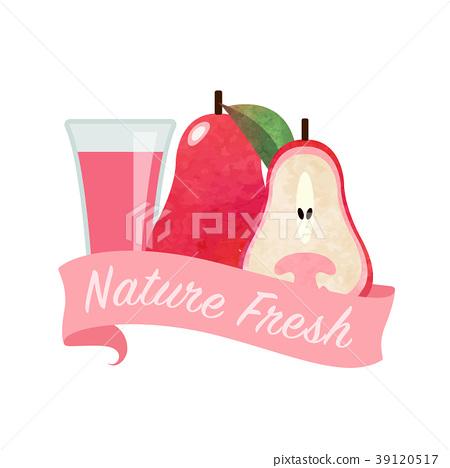 Colorful watercolor nature organic fresh fruit 39120517