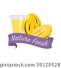 Colorful watercolor nature organic fresh fruit 39120528