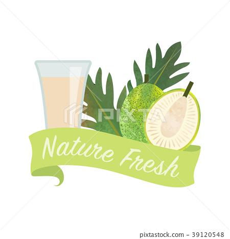 Colorful watercolor nature organic fresh fruit 39120548