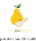 pear, watercolor, fruit 39120600