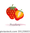Colorful watercolor texture vector healthy fruit 39120603
