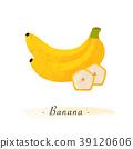 Colorful watercolor texture vector healthy fruit 39120606