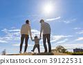 日本父母和孩子(后视图) 39122531