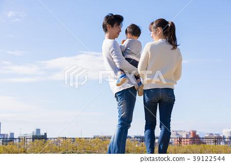 일본인의 친자 (뒷모습) 39122544