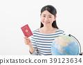 여성 지구본 여권 39123634