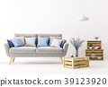 Interior of living room with sofa 3d rendering 39123920