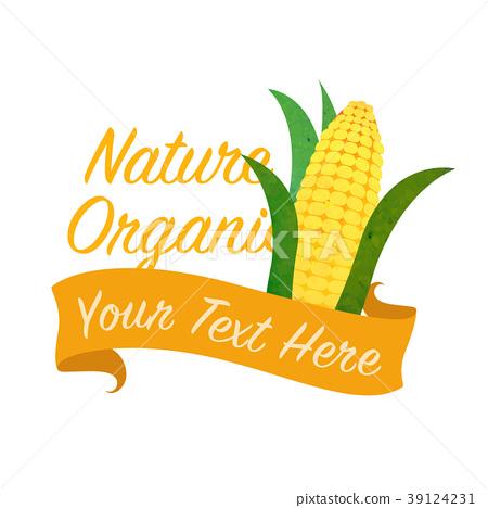 Colorful watercolor organic vegetable banner 39124231