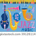Poster for the jazz music. 39126114