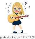 Girl Playing Guitar 39126179