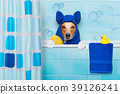 dog in shower 39126241